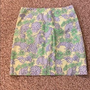 Lilly Pulitzer Lobster/crab Pattern skirt
